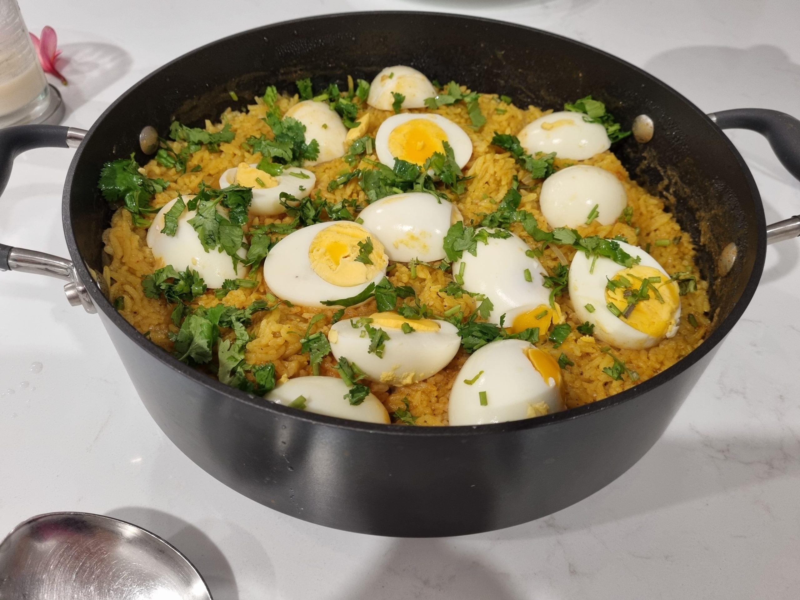 Egg  Rice biryani